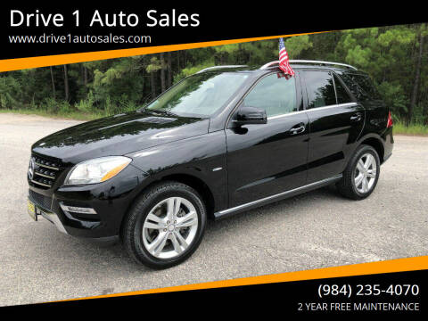 2012 Mercedes-Benz M-Class for sale at Drive 1 Auto Sales in Wake Forest NC