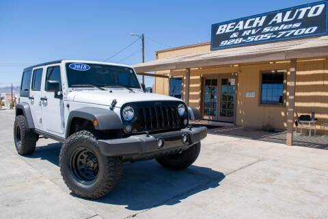2018 Jeep Wrangler JK Unlimited for sale at Beach Auto and RV Sales in Lake Havasu City AZ