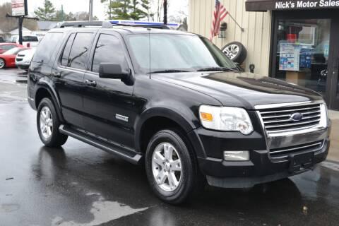 2008 Ford Explorer for sale at Nick's Motor Sales LLC in Kalkaska MI