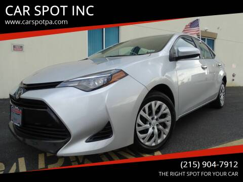 2018 Toyota Corolla for sale at CAR SPOT INC in Philadelphia PA