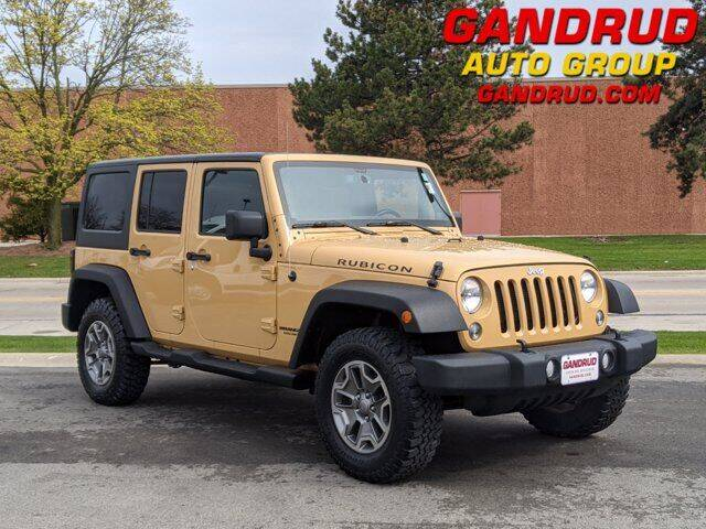 2014 Jeep Wrangler Unlimited for sale at Gandrud Dodge in Green Bay WI