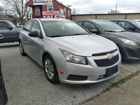 2012 Chevrolet Cruze for sale at Sissonville Used Cars in Charleston WV