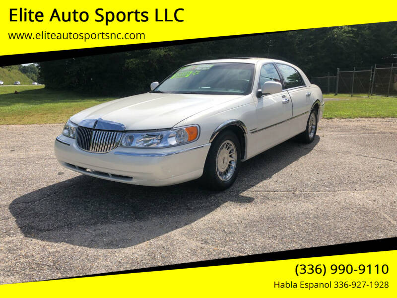 2002 Lincoln Town Car for sale at Elite Auto Sports LLC in Wilkesboro NC