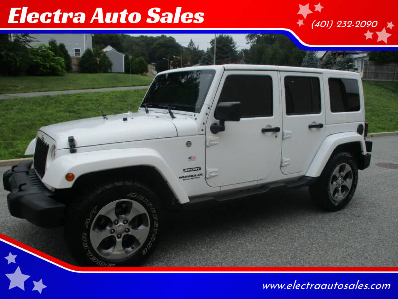 2017 Jeep Wrangler Unlimited for sale at Electra Auto Sales in Johnston RI