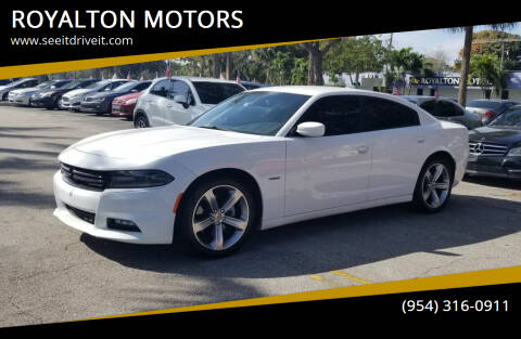 2018 Dodge Charger for sale at ROYALTON MOTORS in Plantation FL