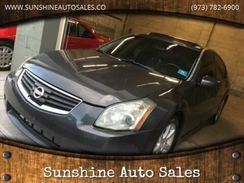 2007 Nissan Maxima for sale at SUNSHINE AUTO SALES LLC in Paterson NJ