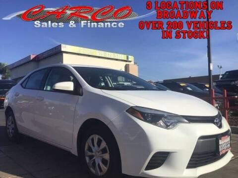 2016 Toyota Corolla for sale at CARCO SALES & FINANCE in Chula Vista CA