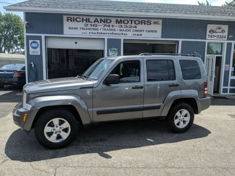2012 Jeep Liberty for sale at Richland Motors in Cleveland OH