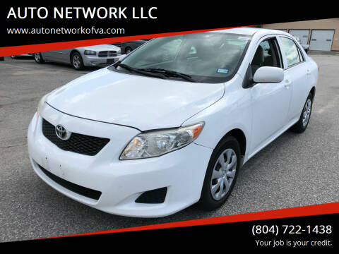 2009 Toyota Corolla for sale at AUTO NETWORK LLC in Petersburg VA
