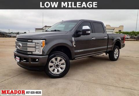 2018 Ford F-250 Super Duty for sale at Meador Dodge Chrysler Jeep RAM in Fort Worth TX
