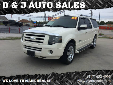 2007 Ford Expedition EL for sale at D & J AUTO SALES in Joplin MO