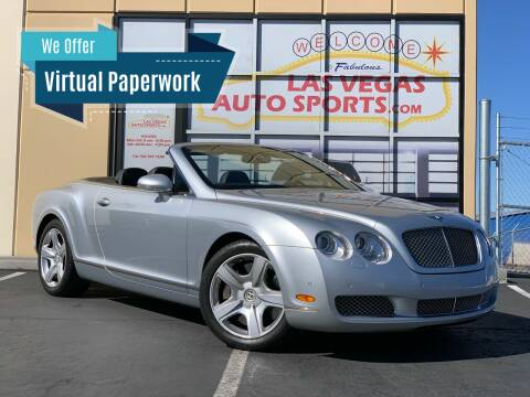 2007 Bentley Continental for sale at Las Vegas Auto Sports in Las Vegas NV
