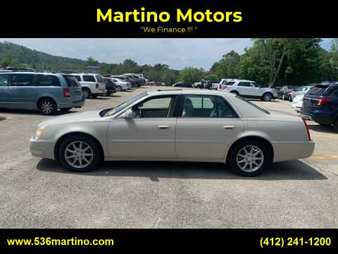 2010 Cadillac DTS for sale at Martino Motors in Pittsburgh PA