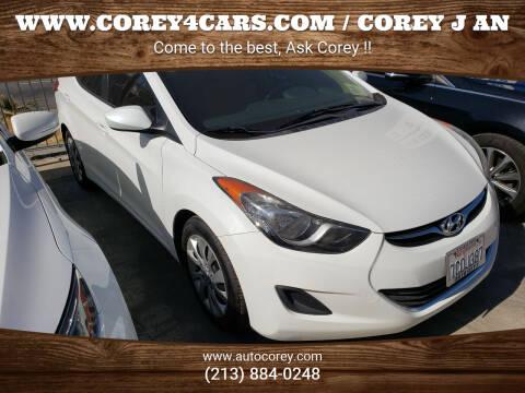 2013 Hyundai Elantra for sale at WWW.COREY4CARS.COM / COREY J AN in Los Angeles CA