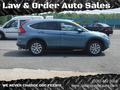 2015 Honda CR-V for sale at Law & Order Auto Sales in Pilot Mountain NC