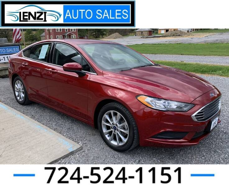 2017 Ford Fusion for sale at LENZI AUTO SALES in Sarver PA