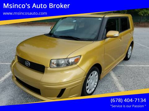 2008 Scion xB for sale at Msinco's Auto Broker in Snellville GA