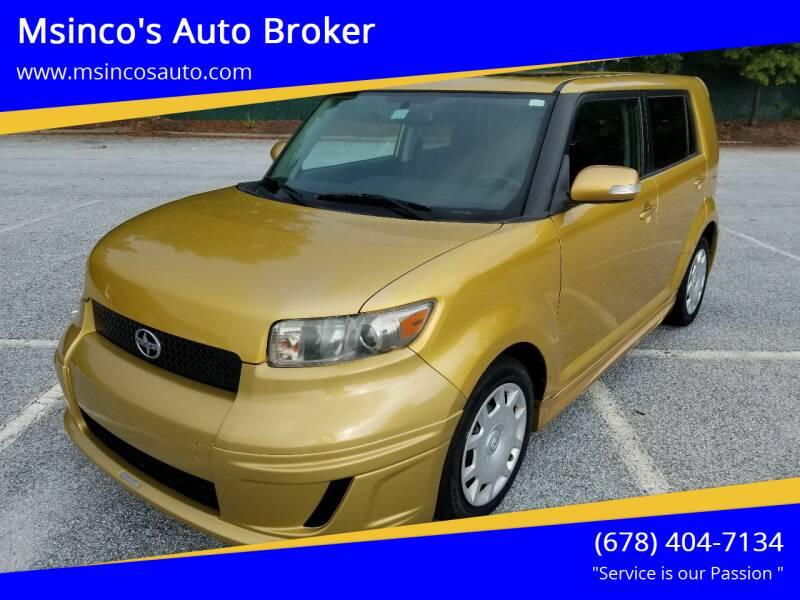 2008 Scion xB for sale at Msinco's Auto Broker in Snellville GA