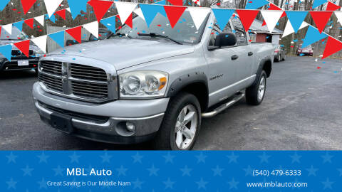 2007 Dodge Ram Pickup 1500 for sale at MBL Auto Woodford in Woodford VA