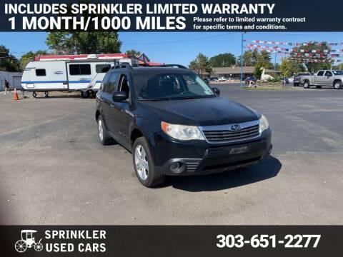 2010 Subaru Forester for sale at Sprinkler Used Cars in Longmont CO