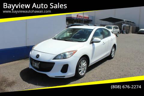 2013 Mazda MAZDA3 for sale at Bayview Auto Sales in Waipahu HI