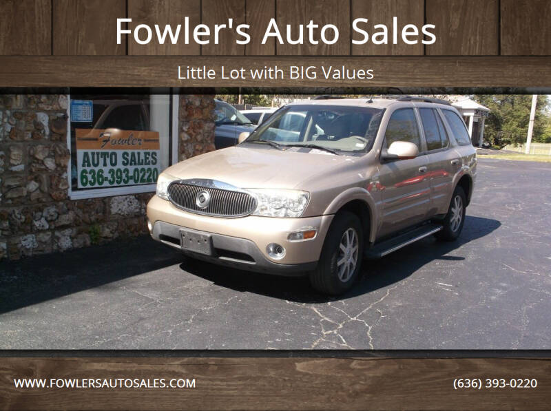 2004 Buick Rainier for sale at Fowler's Auto Sales in Pacific MO