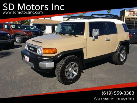 2014 Toyota FJ Cruiser for sale at SD Motors Inc in La Mesa CA