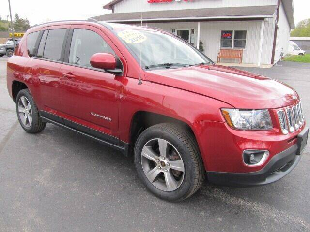 2016 Jeep Compass for sale at Thompson Motors LLC in Attica NY