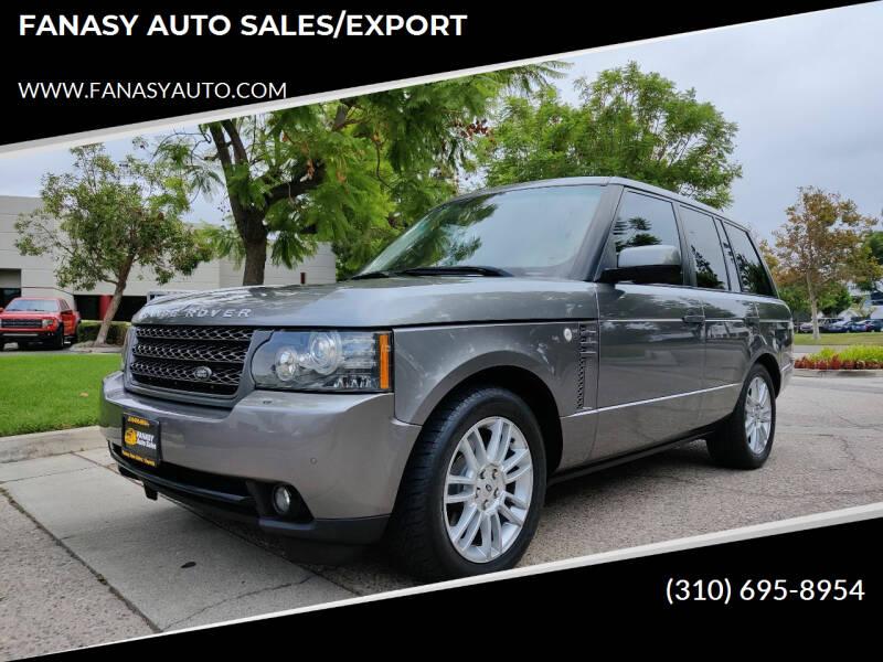 2011 Land Rover Range Rover for sale at FANASY AUTO SALES/EXPORT in Yorba Linda CA