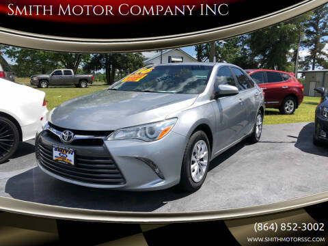 2016 Toyota Camry for sale at Smith Motor Company INC in Mc Cormick SC