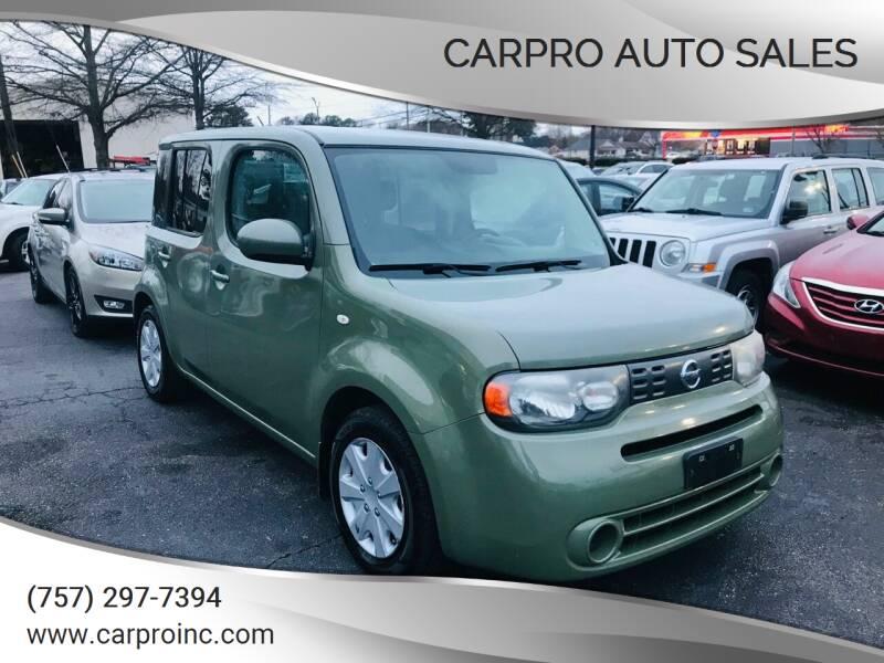 2010 Nissan cube for sale at Carpro Auto Sales in Chesapeake VA