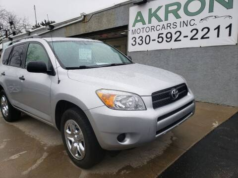 2008 Toyota RAV4 for sale at Akron Motorcars Inc. in Akron OH