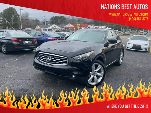 2009 Infiniti FX50 for sale at Nations Best Autos in Decatur GA