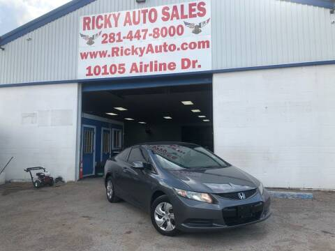 2013 Honda Civic for sale at Ricky Auto Sales in Houston TX