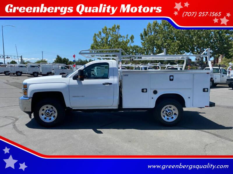 2017 Chevrolet Silverado 2500HD for sale at Greenbergs Quality Motors in Napa CA