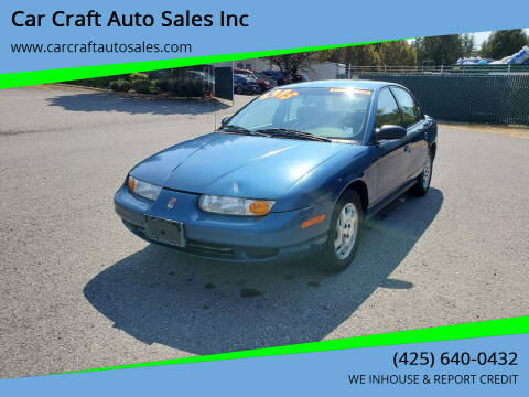 2002 Saturn S-Series for sale at Car Craft Auto Sales Inc in Lynnwood WA