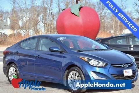 2015 Hyundai Elantra for sale at APPLE HONDA in Riverhead NY