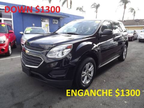 2016 Chevrolet Equinox for sale at PACIFICO AUTO SALES in Santa Ana CA