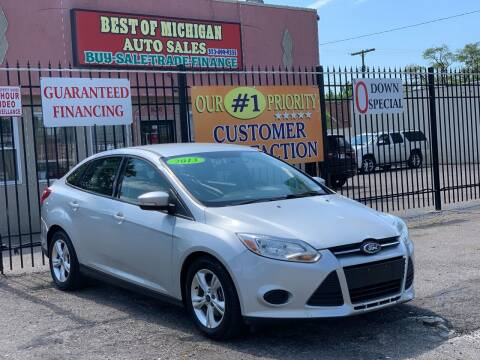 2013 Ford Focus for sale at Best of Michigan Auto Sales in Detroit MI