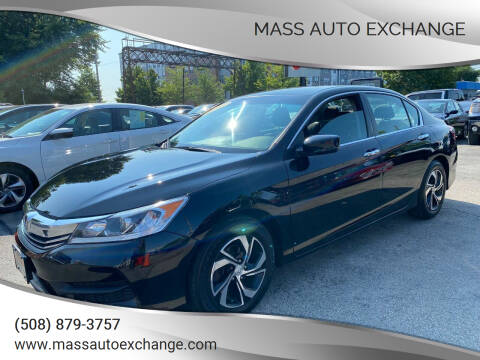 2017 Honda Accord for sale at Mass Auto Exchange in Framingham MA