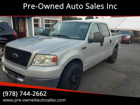 2004 Ford F-150 for sale at Pre-Owned Auto Sales Inc in Salem MA