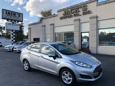2014 Ford Fiesta for sale at JACK'S MOTOR COMPANY in Van Buren AR