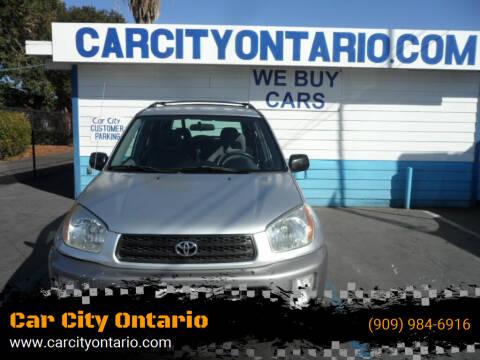 2002 Toyota RAV4 for sale at Car City Ontario in Ontario CA