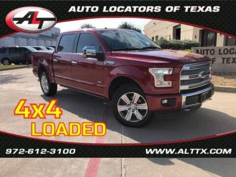 2015 Ford F-150 for sale at AUTO LOCATORS OF TEXAS in Plano TX