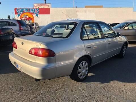 2001 Toyota Corolla for sale at CABO MOTORS in Chula Vista CA