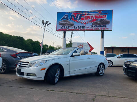 2012 Mercedes-Benz E-Class for sale at ANF AUTO FINANCE in Houston TX