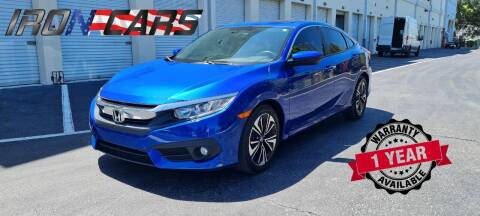 2017 Honda Civic for sale at IRON CARS in Hollywood FL