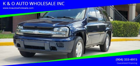 2002 Chevrolet TrailBlazer for sale at K & O AUTO WHOLESALE INC in Jacksonville FL