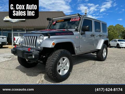 2015 Jeep Wrangler Unlimited for sale at C. Cox Auto Sales Inc in Joplin MO