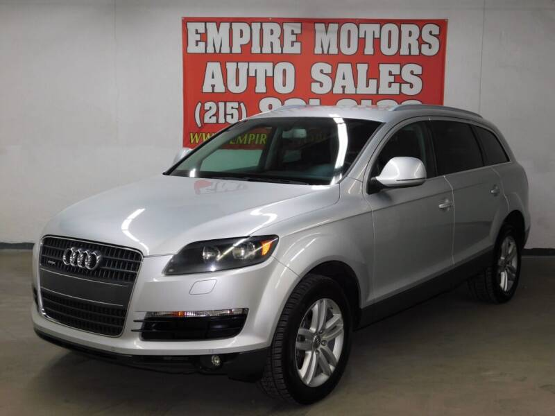 2009 Audi Q7 for sale at EMPIRE MOTORS AUTO SALES in Philadelphia PA